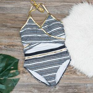 Cutout one piece swimsuit